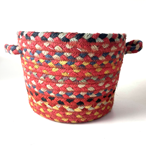 Small Braided Basket Chilli Red
