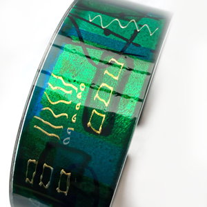 Acrylic Cuff Bangle Gail Klevan Emerald Green