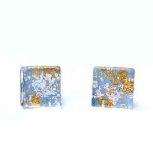 Acrylic Square Stud Earring
