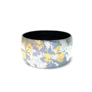Wide Acrylic Bangle Iridescent