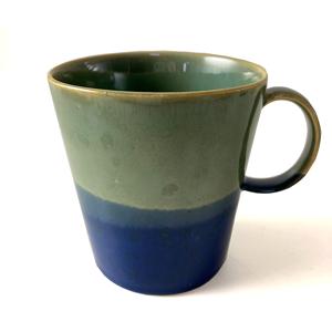 SGW Porcelain ceramic Mug Blue Green