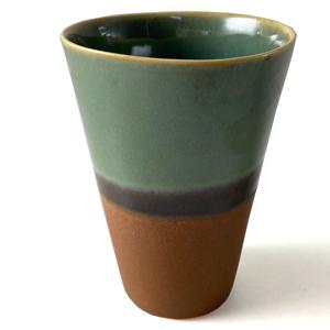 SGW Porcelain Ceramic Beaker Green Brown