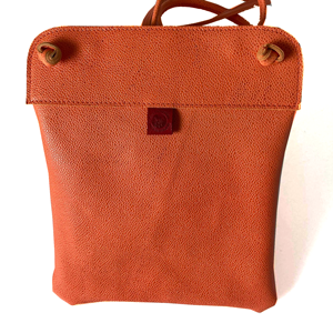 Orange Leather Pub bag