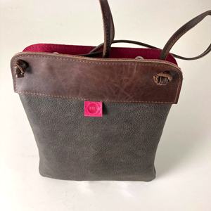 Brown Leather Pub Bag