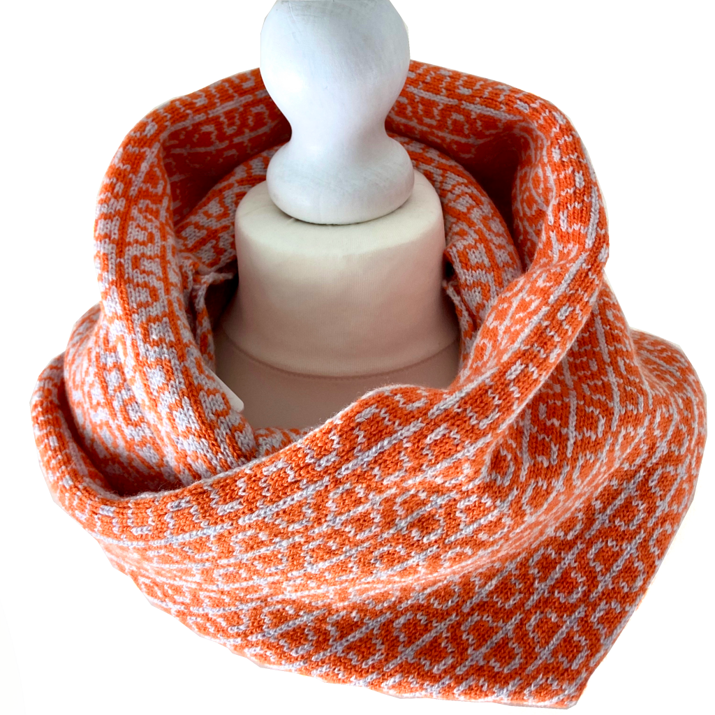 Lambswool Loop Scarf Orange