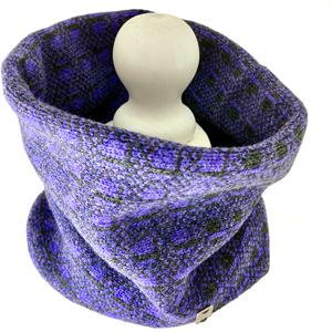 Olive Pearson Lambswool Cowl Purple