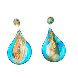 Stud Peardrop Turquoise Resin Earring