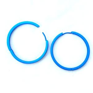 Titanium Hoop Earring Blue