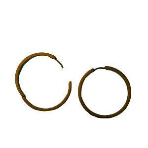 titanium Hoop earring Bronze