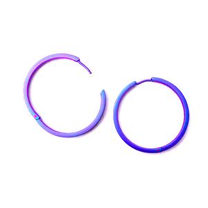 Titanium Hoop Earring Violet