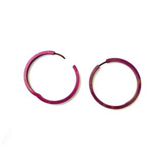 Titanium Hoop Earring Aubergine