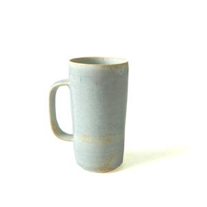 Tiny Tall Porcelain Coffee Mug Rebecca Callis Grey