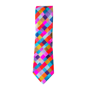 Victoria-Richards-Silk-Tie-Check-Multi-Pink