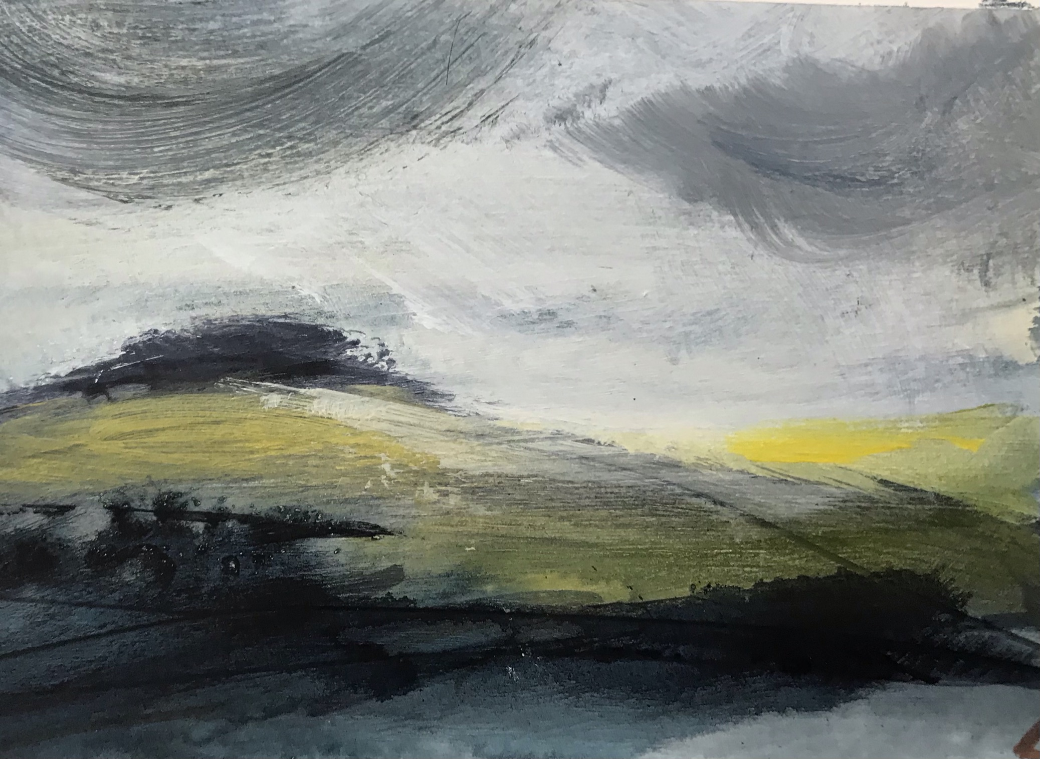 Wet days walking 2 Original Painting by Lindsey Tyson